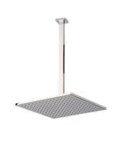 "F907-12/14 - 12"" Shower Rainhead Ceiling Mount 14"" Arm, Square"