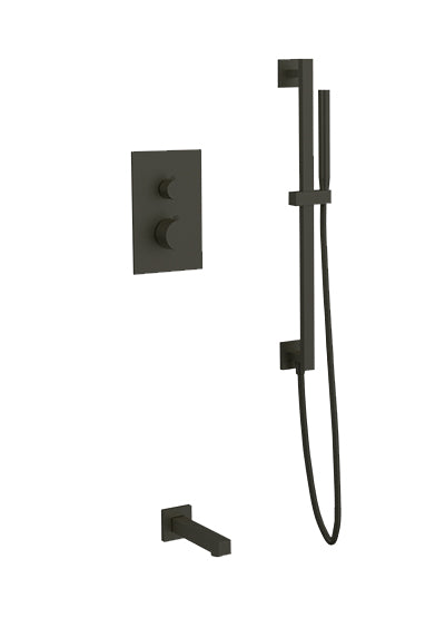 PS149 - Otella Shower Set with Slide Bar, Tub Filler Round/Square