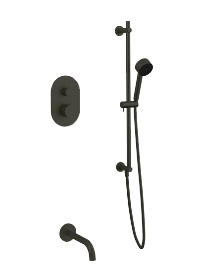PS148 - Opera Shower Set with Hand Held, Tub Filler Round