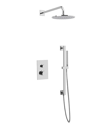 PS137 - Otella Shower Set with Slide Bar, Wall Mount Shower Head Round/Square