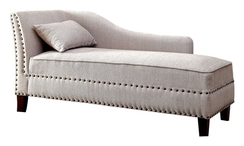 Stillwater Contemporary Flax Fabric Chaise