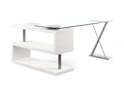 Elona High Gloss Convertible Office Desk