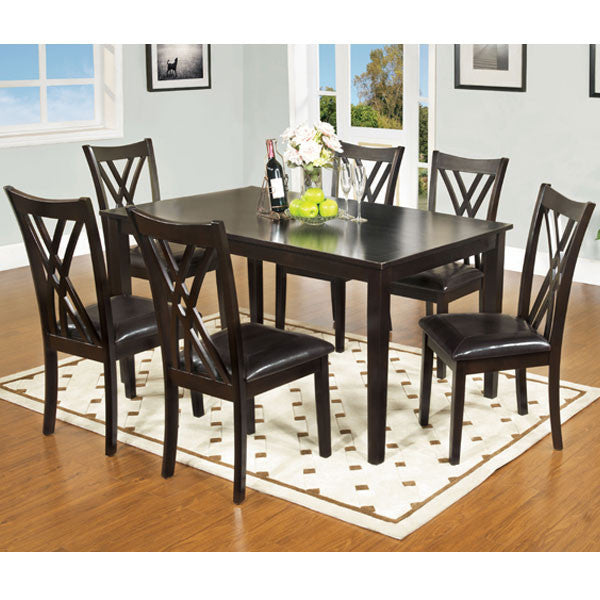 Springhill Contemporary Espresso 7-Piece Dining Set