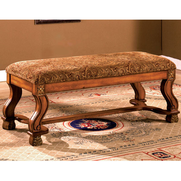 Vale Royal English Style Antique Oak Finish Accent Bench