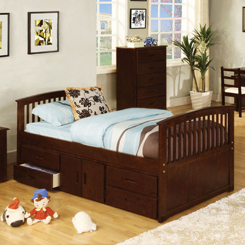 Caballero Mission Style Dark Walnut Youth Platform Bed