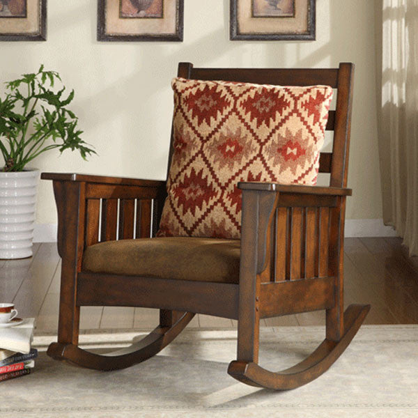 Ridgetwood Dark Oak Finish Rocking Accent Chair