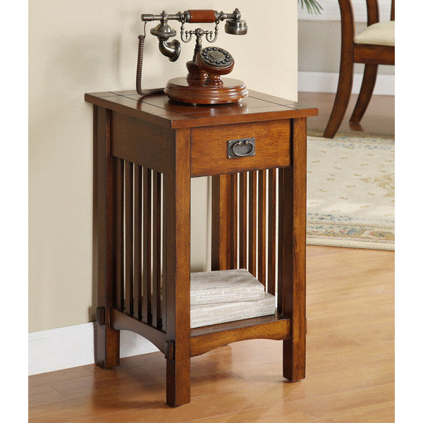 Crandon Mission Style Oak Finish End Table