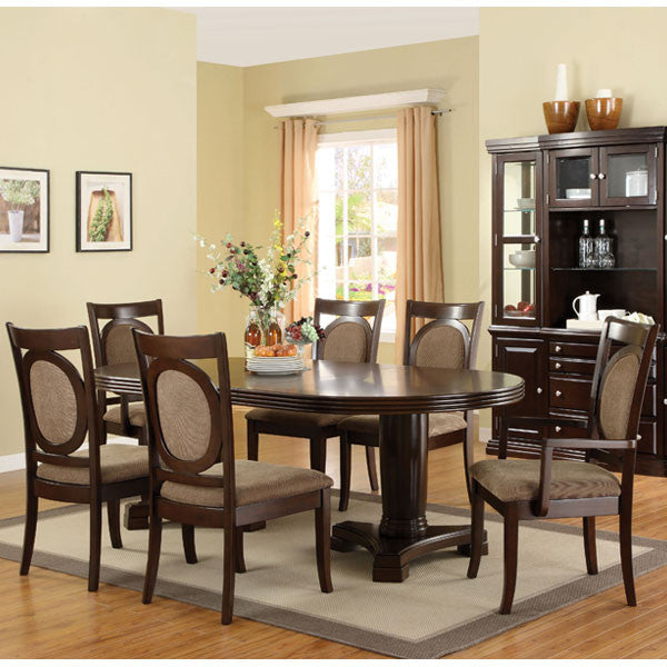 Evelyn Dark Walnut Formal Dining Set