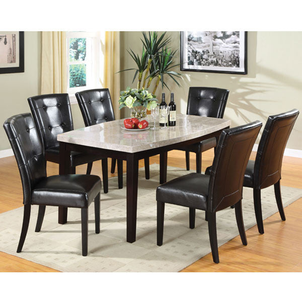 7 Piece Faux Marble Dining Sets