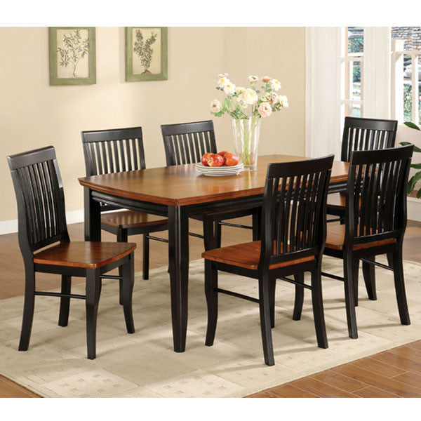 Earlham Mission Style Black & Oak Dining Set