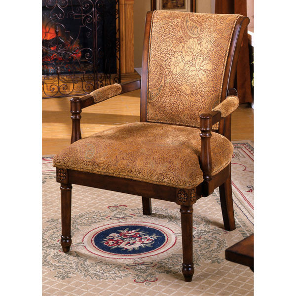 Saint Bailey Antique Oak Finish Accent Chair