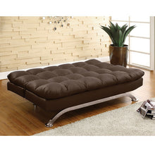 Mussina Contemporary Leatherette Sofa Futon Bed