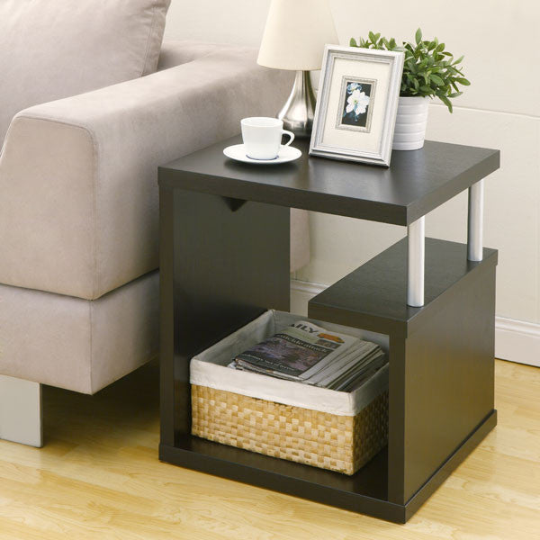 Renate Modern Cappuccino Multi-leveled End Table