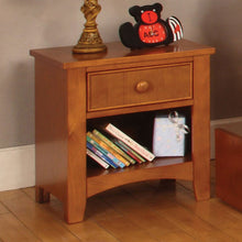 Gherki Cottage Style Single Drawer Youth Nightstand