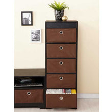 Kenton Matte Black Finish Storage Cabinet