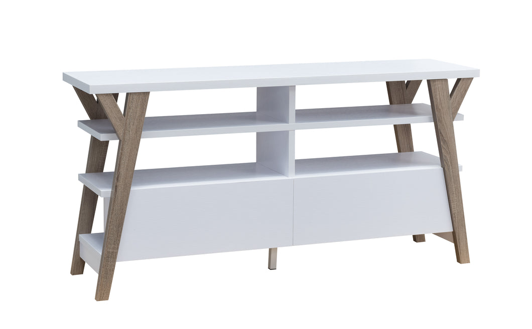 Yarbuth Mid-Century Modern  White 60-inch Buffet/TV Stand
