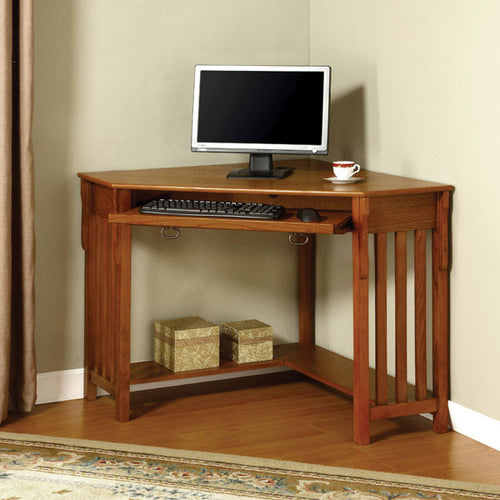 Toledo Mission Style Oak Corner Desk