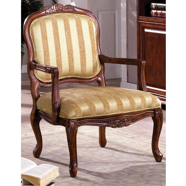Burnaby Classic Antique Oak Finish Accent Chair