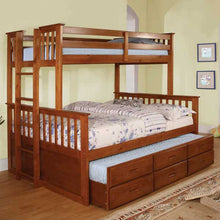 Somerset Mission Style Twin & Full Combo Size Bunk Bed With Trundle