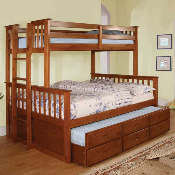Somerset Mission Style Twin Amp Full Combo Size Bunk Bed