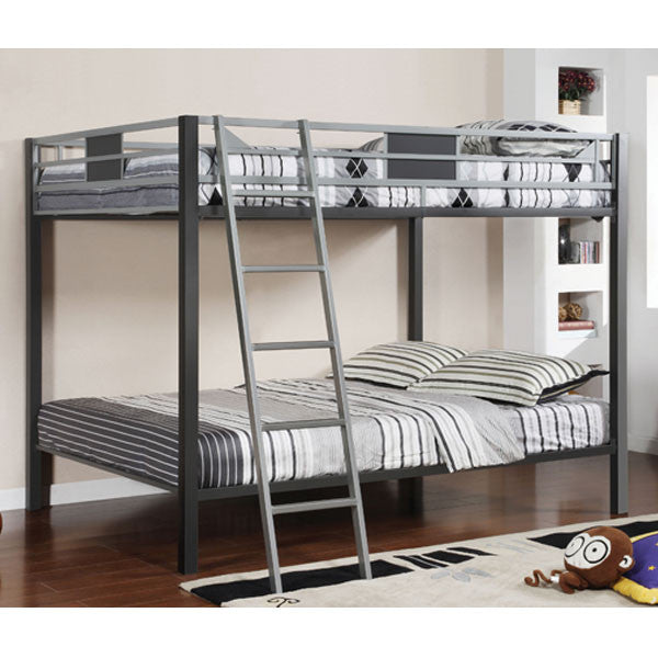 Cletis IV Metal Constructed Dual Full Size Bunk Bed