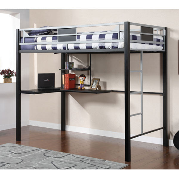 Clifton Metal Constructed Youth Full Size Loft Bed With Workstation