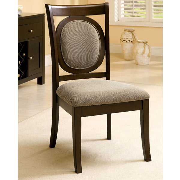 Evelyn Dark Walnut Finish Formal Dining Chair
