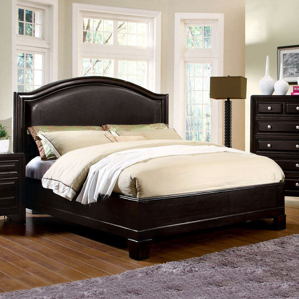 Winsor Elegant Style Espresso Finish Bed Frame Set