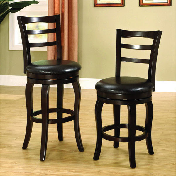 Southland Transitional Espresso Finish Swivel Bar Stool (24 inch or 29 inch)