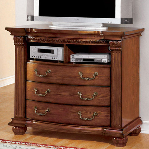 Bellagrand English Style Antique Tobacco Oak Media Chest
