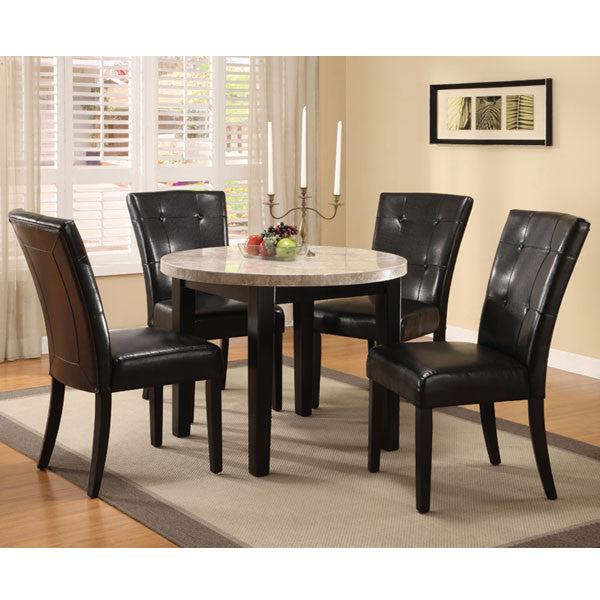 Marion Contemporary 5-Piece Faux Marble Dining Set