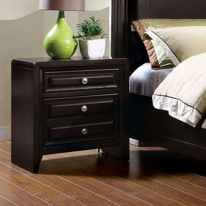 Winsor Elegant Style Espresso 2-Drawer Bedroom Nightstand