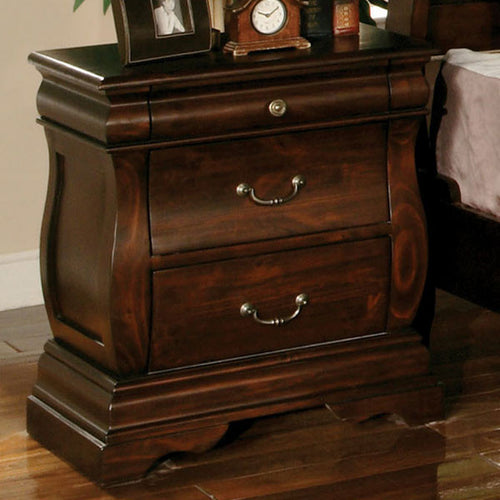 Brunswick Transitional Cottage Style Dark Walnut Finish Nightstand