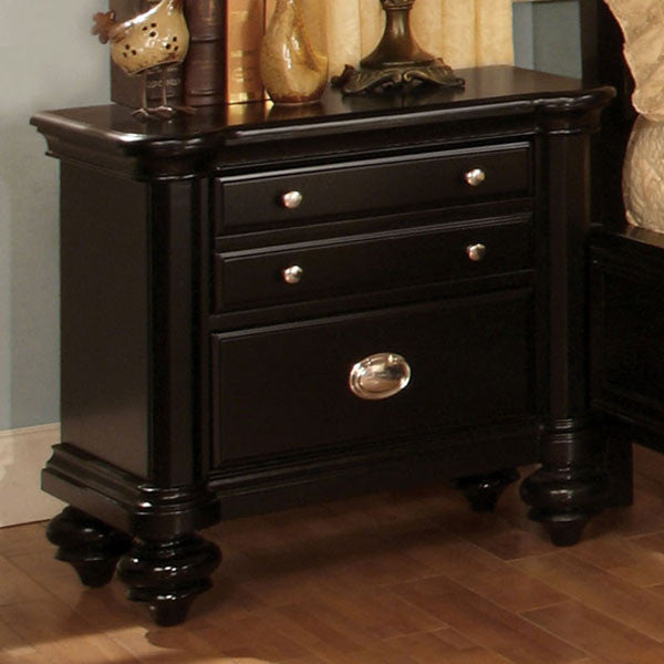 Laguna Hills English Style Black Finish Nightstand