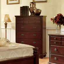 Gabrielle French Country Style Dark Cherry Finish 6-Piece Bedroom Set