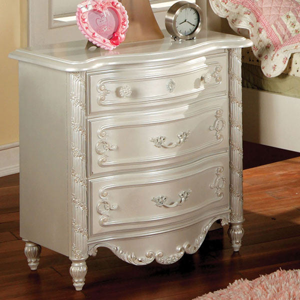 Victoria Pearl White Youth Bedroom Nightstand