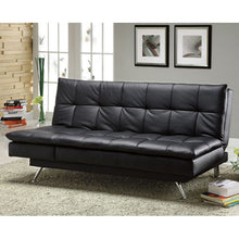 Attalla Black Finish Bicast Leatherette Set