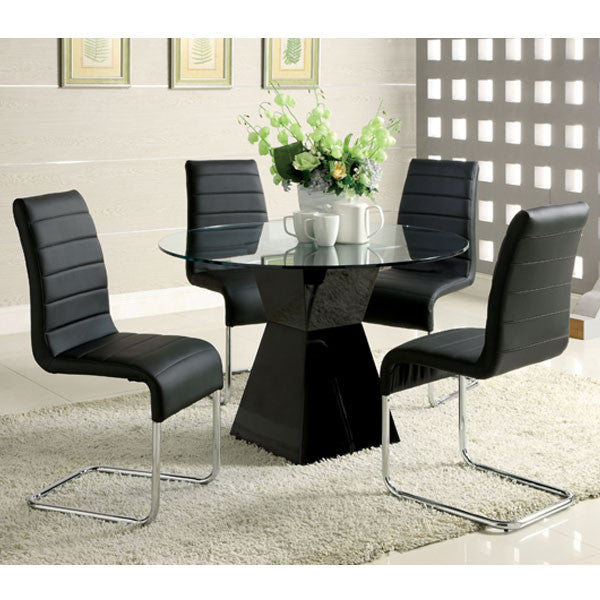 Sumiton Contemporary 5-Piece Glass Top Dining Set