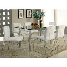 Adorno Contemporary Chrome-Plated Steel 7-Piece Dining Set