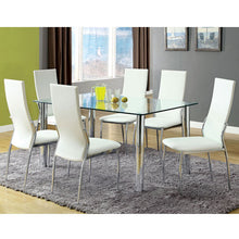 Holbrook Contemporary 7-Piece Chrome-Plated Steel Dining Set