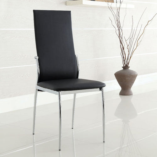 Aldora Contemporary Leatherette Dining Chair, Set of 2