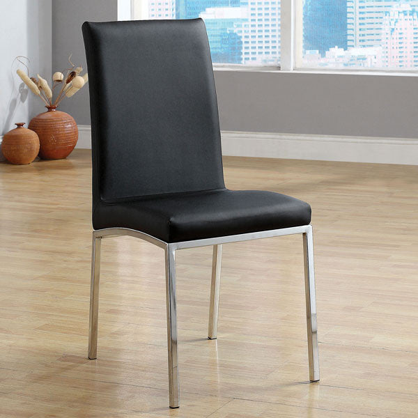 Alana Contemporary Black Finish Dining Chair