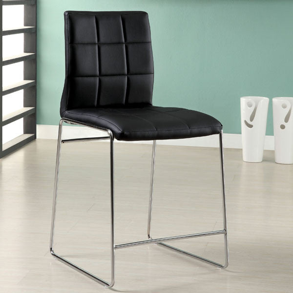 Frisco Contemporary Leatherette Counter Height Dining Chair (Set of 2)