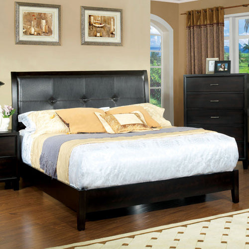 Enrico Traditional Cottage Style Espresso Platform Bed