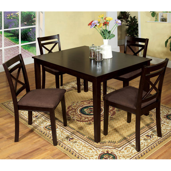 Weston Contemporary 5-Piece Espresso Dining Set