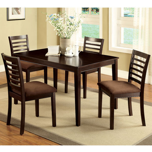 Eaton 5-Piece Espresso Dining Set