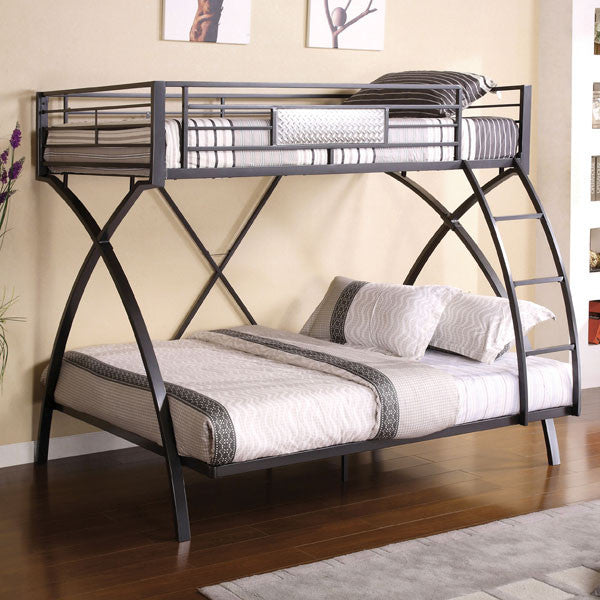 Apollo Full Metal Style Twin and Full Size Bunk Bed