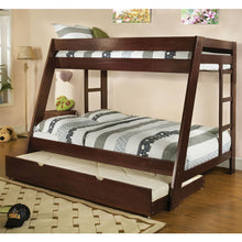 Arizona Cottage Style Twin over Full Size Bunk Bed with Trundle