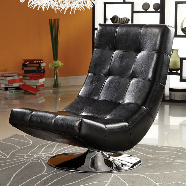 Trinidad Contemporary Leatherette Accent Chair