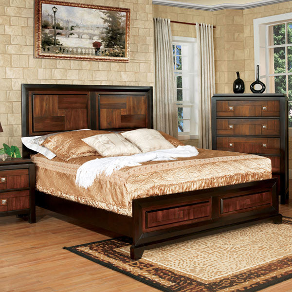 Patra Asian Contemporary Acacia Walnut Bed 247 Shop At Home